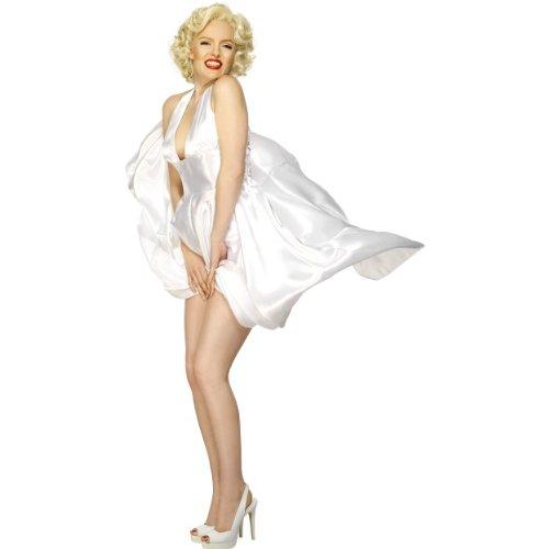 Preisvergleich Produktbild Karneval Damen Kostüm Marilyn Monroe Neckholder Kleid Größe M