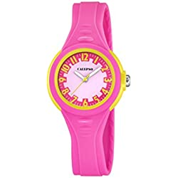 Calypso Girl's Quartz Watch with Baby Pink Dial Analogue Display and Pink Plastic Strap K5686/3