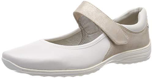 Tamaris Damen 1-1-24601-22 132 Slipper, Weiß (WHITE/BEIGE 132)), 41 EU -