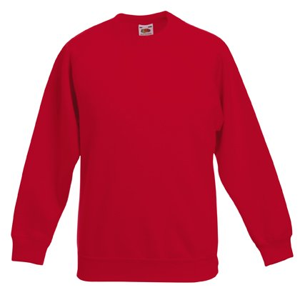 Fruit of the Loom Kinder Unisex Sweatshirt, Raglanärmel - Rot - Rot - 92 92,Rot - Rot (Rote Mädchen Pullover)