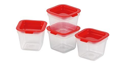 Tescoma Purity Mini Contenitori Igienici per Freezer, 4 Pezzi, Plastica, Trasparente