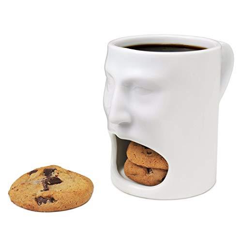 Justdolife tazza di caffè creativo boccale in ceramica con biscotto