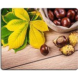 Horse Chestnut Leaf (MSD Natural Rubber Gaming Mousepad IMAGE ID: 32574254 Autumn theme with a horse chestnut leaves)