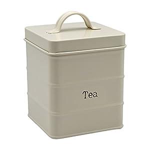 Boîte à thé en métal - crème