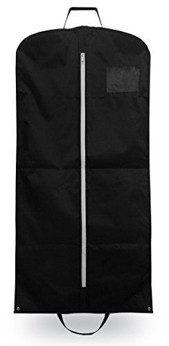 OWLMO - Elegante Premium Anzugtasche/Kleidersack mit XXL Staufach | Faltbar | ideal als Handgepäck für Business-Reisen | für 3-4 Kleiderbügel | 110x63cm | Atmungsaktiv | Ökologische Verpackung