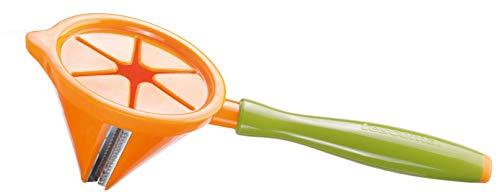 Tescoma Presto Carving Affetta Julienne a Spirale, Acciaio Inossidabile, Verde/Arancio, 19 cm