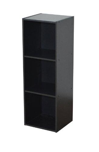 Alsapan Compo Regal mit 3Etagen, Melamin, 91x 31x 29,5cm schwarz