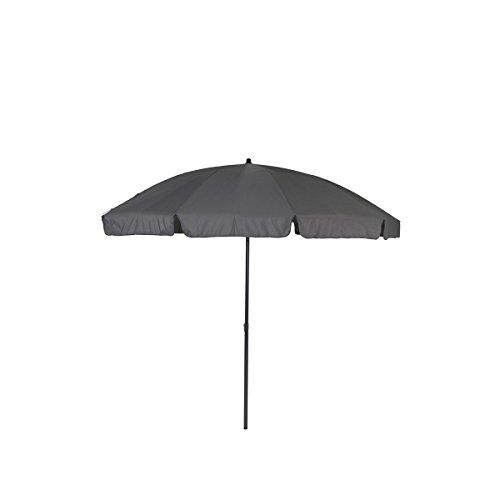 greemotion Sonnenschirm 3m mit UV-Schutz - Balkonschirm in Anthrazit-Grau - Gartenschirm knickbar - Terrassenschirm rund - Outdoor-Schirm für Balkon, Terrasse & Garten