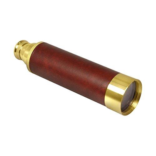 """AUA Mini monoculaire 25x30 Télescope Nautique Pirate 12 """"Monoscope en laiton"""