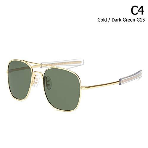 ZHOUYF Sonnenbrille Fahrerbrille Mode Polarisierte Ao Armee Militärischen Stil Luftfahrt Sonnenbrille Männer Fahren Markendesign Sonnenbrille Oculos De Sol, D