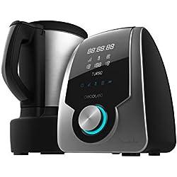 Cecotec Robot de Cuisine Multifonctions Mambo Silver. 3.3 L, Température jusqu'à 120ºC avec Sélection Degré par Degré, 10 Vitesses + Turbo, Programmable jusqu'à 12heures, Livre de recettes, 1700W.