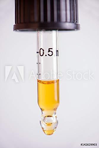 druck-shop24 Wunschmotiv: Dropper with CBD Oil, Cannabis live Resin Extraction Isolated - Medical Marijuana Concept #142629903 - Bild auf Leinwand - 3:2-60 x 40 cm / 40 x 60 cm