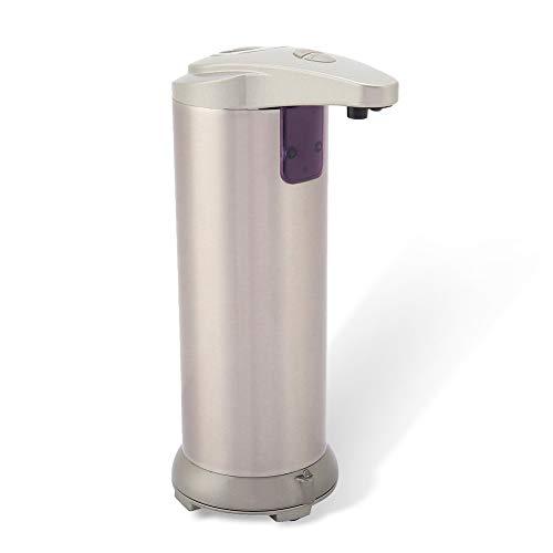 Dispensador de Jabón Automático Sin Contacto Dispensador de Líquido Desinfectante para Pilas de Acero Inoxidable para Baño Cocina Volumen Ajustable Dispensador de Jabón 250 ML