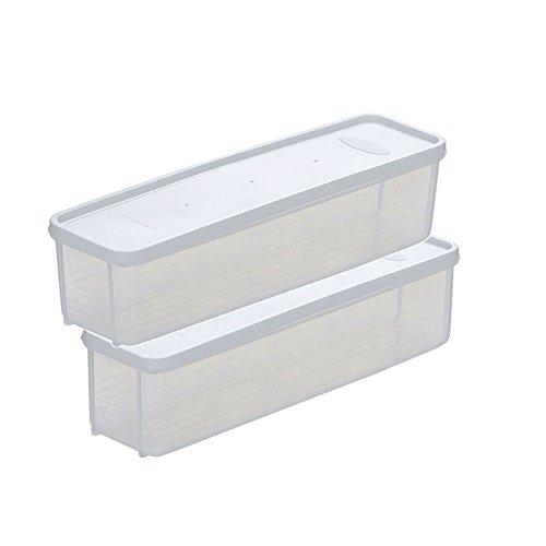 2 x da.wa rettangolare scatola per alimenti spaghetti lasagne della scatola portaoggetti trasparente containge