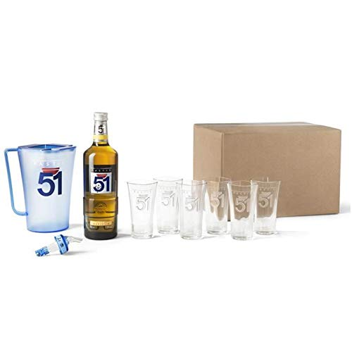 Kit dégustation PASTIS 51 + 6 nouveaux verres + 1 pichet