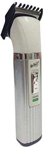 Brite BHT-430 Professional Rechargeable Trimmer - Hair Clipper for Men, Women-White