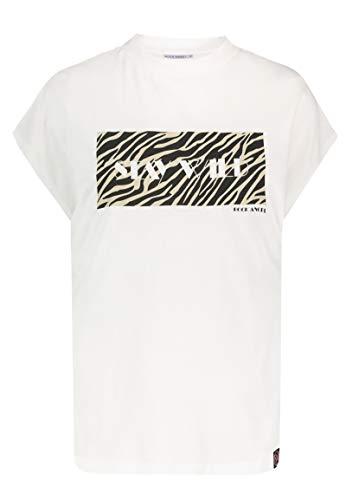 Rock Angel Damen T-Shirt Ilaria Animal Print & Stehkragen White L - Animal Rock
