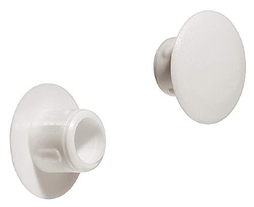 Gedotec Schrauben-Abdeckungen weiß Blindstopfen rund Schrauben-Kappen zum Einpressen | H1125 | Ø 8,5 mm | für Blindbohrung | 20 Stück