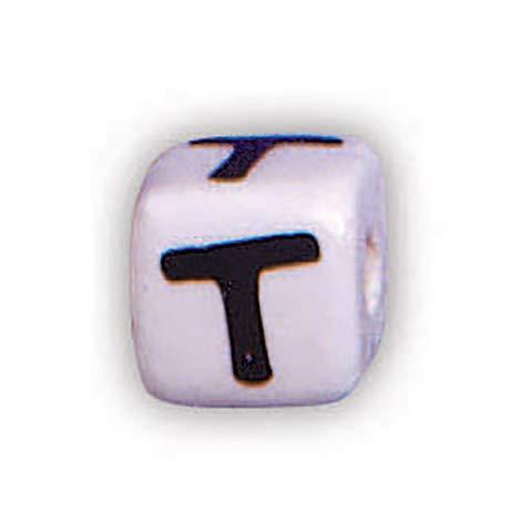 Darice 1929-T Alpha Keramikwürfel T 12 mm 36 Stück