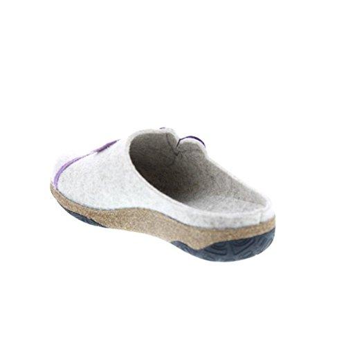 Rohde Donna Pantofole grau-kombi 6273-13 grau-kombi