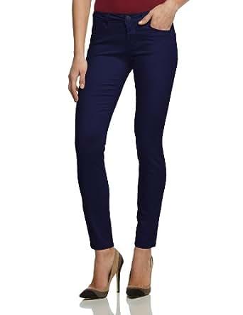 ONLY Damen Hose 15082865 NYNNE SKINNY SOFT PANTS, Gr. 38/34 (M), Blau (Total Eclipse)