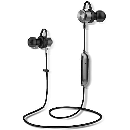 Arbily Bluetooth Kopfhörer, Y3 Sport Kopfhörer Leichter Magnetisch Stereo Noise Canceling Kopfhörer Wireless IPX7 Sweatproof In-Ear Sport Headset mit Mikrofon für Sport, Reisen und mehr(Silber) thumbnail