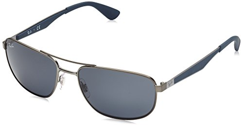Ray-Ban UV protected Square Men's Sunglasses - (0RB3528029/8758|58|Dark Grey) image