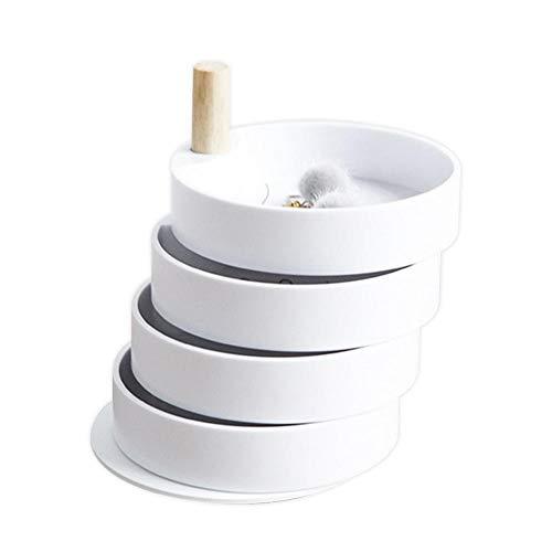 Rich-home Caja Joyero Joyas Aretes Caja De Almacenamiento 4to Piso - Blanco