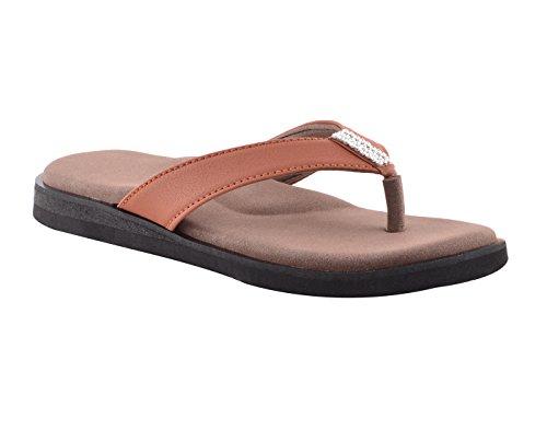 DIA ONE Orthopedic Sandal Rubber Sole MCP Insole Diabetic Footwear for Women (L.Cozy Sticker Dia_73 Size 9-27 cm) Brown