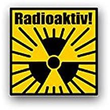 4 X Auto Ventilkappe Ventilkappen Chrom Strahlung Radioaktivität Atom KFZ PKW