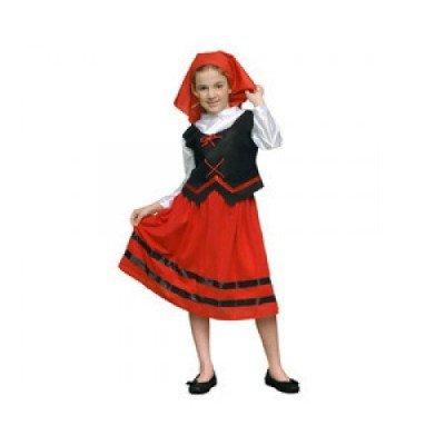 Imagen de disfraz de pastora rojo para niña  talla  10 12 años