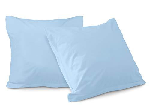 schlafgut basic Mako-Jersey 2er-Pack - Spannbettlaken oder Kissenbezug 315.346, hellblau,...