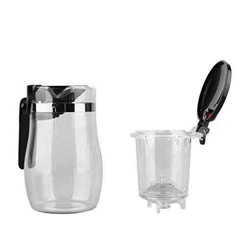 Kitechildhood Drinkware 750ML Heat Resistant Glass Tea Pot with Filter & Spring Type Calve Transparent