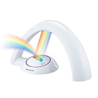 Amteker Rainbow Projector LED Light Reflection, Magical Colorful Rainbow Light, Nursery Projector Light - Lucky Rainbow - Gift for Children