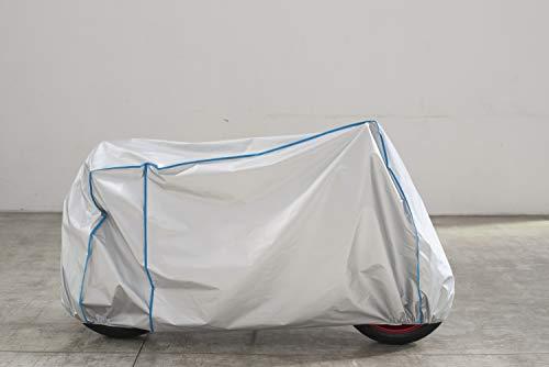 Motorrad Haube Plane Abdeckung atmungsaktiv UV beständig kompatibel mit Aprilia RST 1000 Futura mit Koffer in Silber
