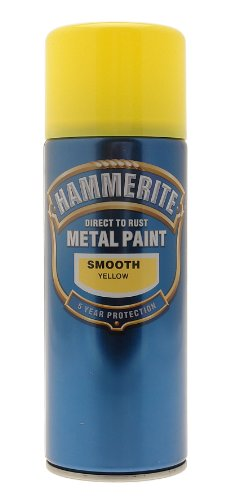 hammerite-5092968-metal-paint-smooth-yellow-400ml-aerosol