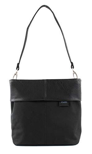 ZWEI Olli OT8 Tasche Damen Umhängetasche Schultertasche in schwarz 25x23x10 cm (BxHxT)