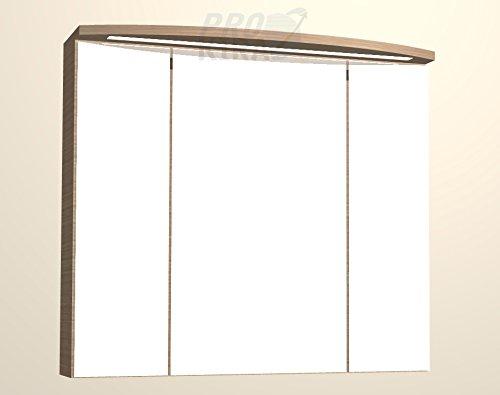 PELIPAL Lunic Spiegelschrank inkl. LED/LU-SPS 24 / Comfort N/B: 80 cm