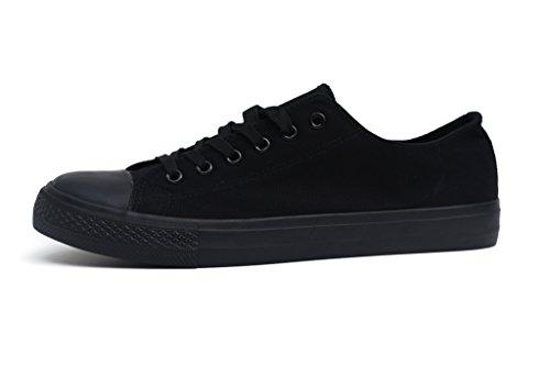 F.better Herren Sneaker Low-Tops Segeltuchschuhe Schuhe Alles schwarz
