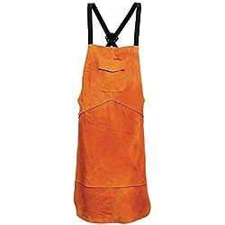 1x Tablier de soudure en cuir résistant avec poche, sécurité de protection vêtements de travail, soudeur, carpenter, forgeron, jardinage travail protéger vêtements