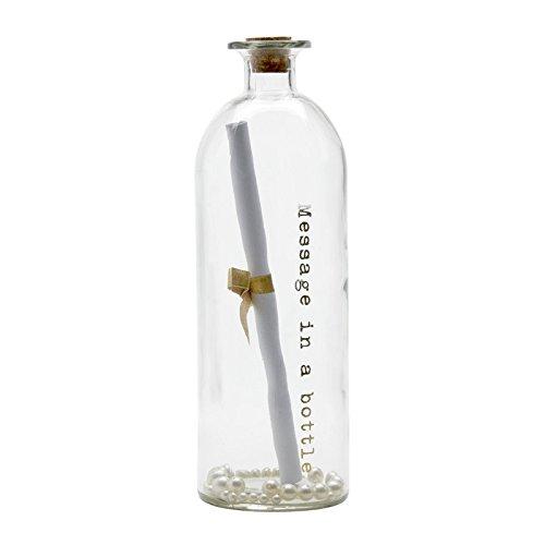 (Message in a Bottle Großes Glas Wish Flasche mit Gold Schreiben und Papier Scroll–Ideal für Hochzeiten/50. Golden Hochzeit Jahrestag–25cm)