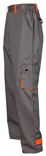 Stenso Desman® Grigio/Arancione Uomo Pantaloni da Lavoro multitasca