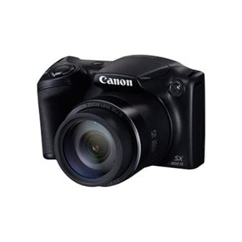 Canon Powershot SX400 IS 16MP Point and Shoot Camera (Black) with 30x Optical Zoom, 8GB Card and Camera Case