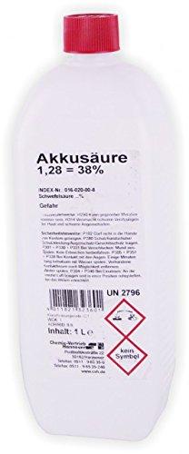 CVH Chemie Akkusäure, 1Liter, 1,28, Schwefelsäure 38% -