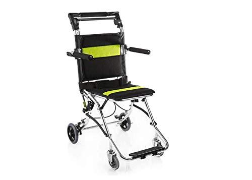 Rollstuhl Leichter Rollstuhl - Mobiler Rollstuhl - Faltbarer Rollstuhl Mit Eigenantrieb - Zusammenklappbarer Rollstuhl Für Die Mobilität Von Behinderten,Schwarz,A - Körper-handschuh-kinder T-shirt