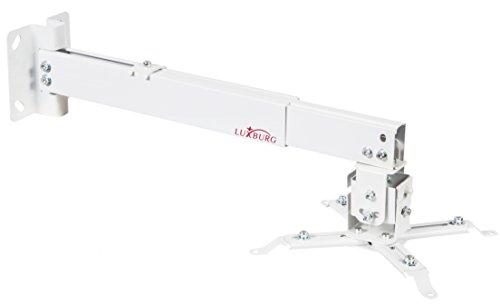 Luxburg® Kit Support-Wand/Decke Universal Aluminium für Projektor 70–120cm–Unterstützt 15kg 30Grad weiß