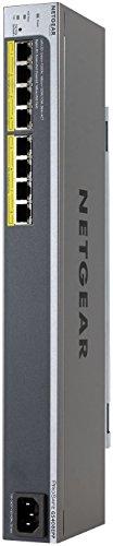 Netgear GS408EPP-100NES ProSafe Smart Managed Plus Easy-Mount Gigabit Ethernet Switch (8-Port) schwarz/silber