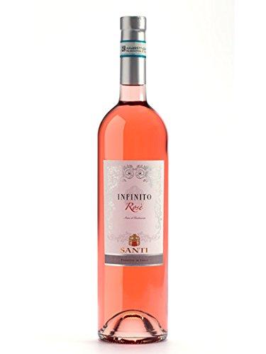 Infinito bardolino chiaretto doc - santi - vino rosato fermo 2017 - bottiglia 750 ml