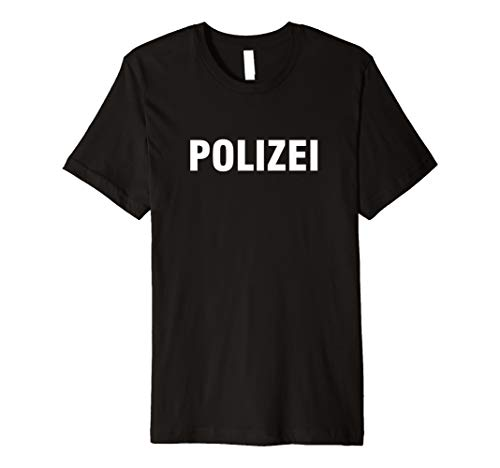 Polizei Shirt Kostüm - Polizei T-Shirt Print Druck für Kinder Fasching Kaneval