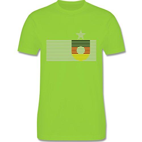 EM 2016 - Frankreich - Deutschland Streifen - Herren Premium T-Shirt Hellgrün